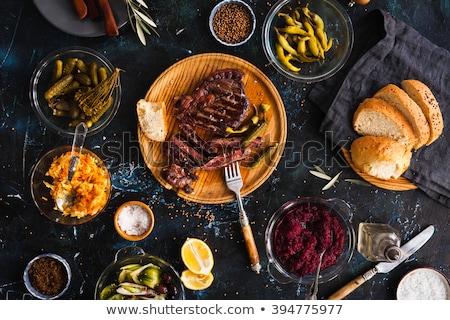 Tabel geserveerd tafel bruiloft diner bloem Stockfoto © ruslanshramko