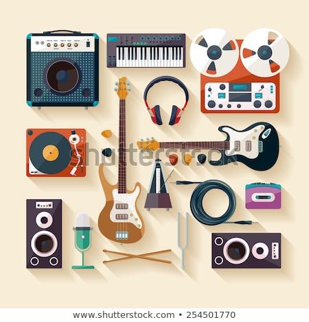 виниловых лента музыку запись Vintage пункт Сток-фото © robuart