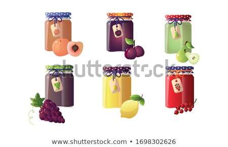Preserved Food Plums in Jar Vector Illustration Stock photo © robuart