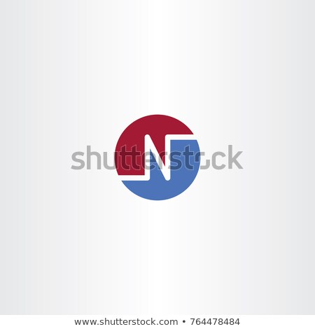 blue red n letter circle logo symbol stock photo © blaskorizov