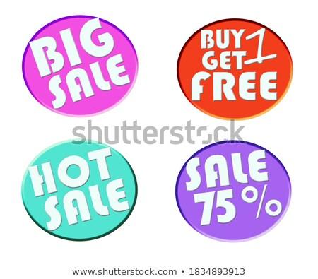 best spring discount big sale off discounts set stock photo © robuart