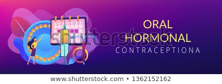Female contraceptives concept banner header. Stock photo © RAStudio