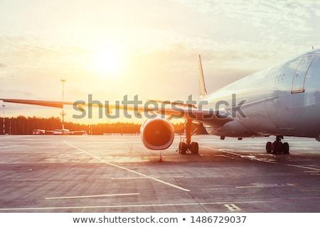 самолет ВПП иллюстрация небе искусства путешествия Сток-фото © colematt
