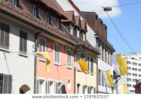 Ház zászló Vatikán csetepaté fehér házak Stock fotó © MikhailMishchenko