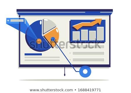 Statistisch tekst gegevens presentatie monster vector Stockfoto © robuart