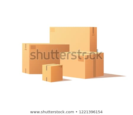template of shopping packages packs adhesive tape stock photo © robuart