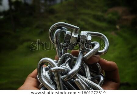 acél · lánc · 3D · renderelt · kép · illusztráció · izolált - stock fotó © oakozhan