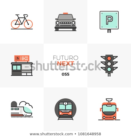 Tram rail logo icon business urban transport concept. Stock photo © ESSL