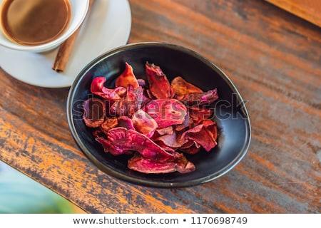 Café palma grãos de café bandeira longo formato Foto stock © galitskaya