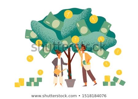 Zakenvrouw inkomsten gelukkig handen helm Stockfoto © vladacanon