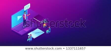 Webinar isometric 3D banner header. Stock photo © RAStudio