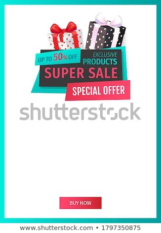 Különleges promóció exkluzív termékek bannerek szett Stock fotó © robuart