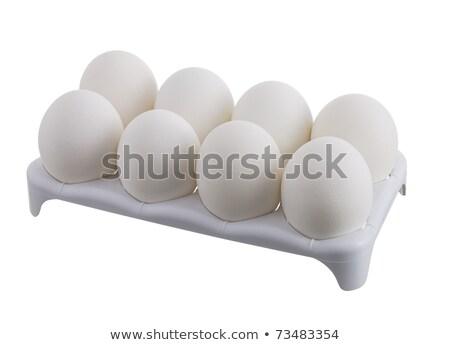 Acht ei karton illustratie achtergrond kunst Stockfoto © colematt