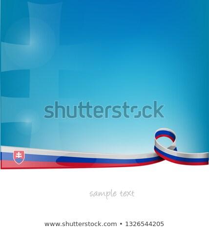 Slowakije lint vlag blauwe hemel abstract ontwerp Stockfoto © doomko