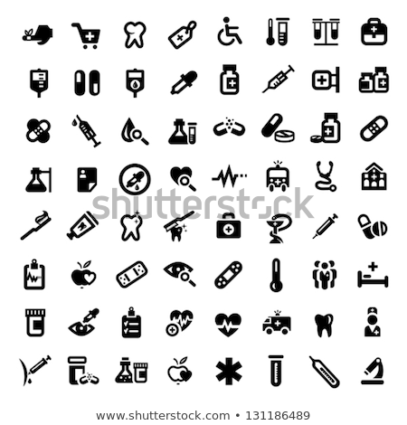 Healthcare and medicine, medical equipment icons set for website and mobile site and apps. Contains  Stock photo © makyzz