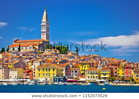 Town of Rovinj colorful waterfront and harbor view Stock photo © xbrchx
