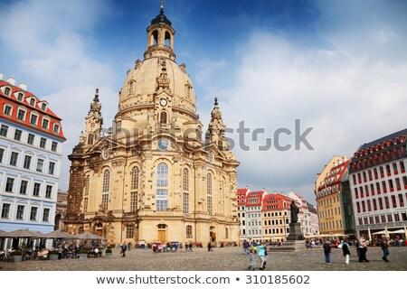 Kościoła pani drezno Niemcy akwarela imitacja Zdjęcia stock © unweit