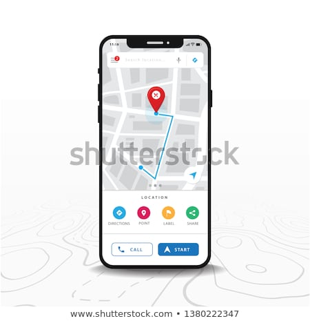 map with red location marker and mobile phone stock photo © andreypopov