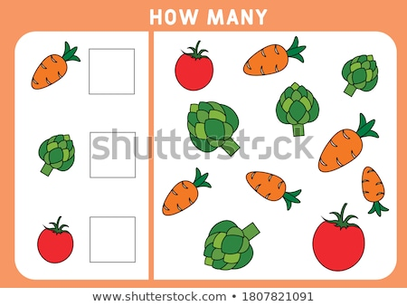 Math subtraction worksheet farm theme Stock photo © bluering