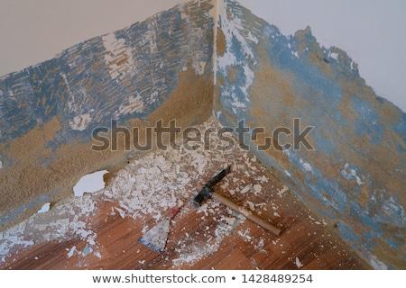 çekiç araçları boya grunge mavi duvar Stok fotoğraf © lunamarina