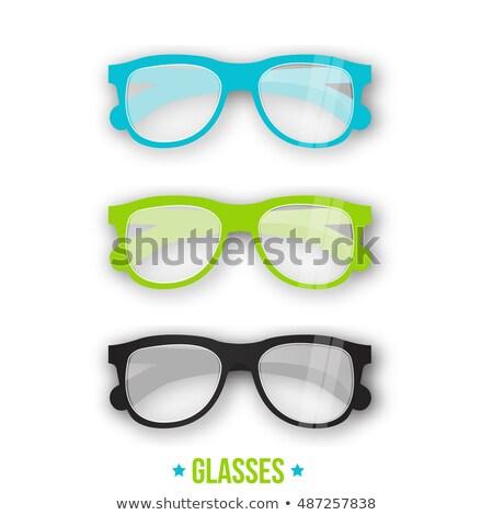 különböző · szemüveg · izolált · fehér · nap · szív - stock fotó © netkov1