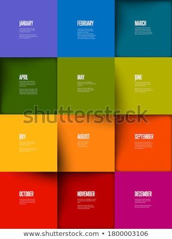 Lumière chronologie rapport modèle Photo stock © orson