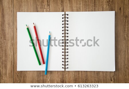 Checked Paper Colored Pencils Stock photo © limbi007