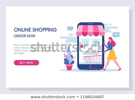 E-commerce webpage template. Stock photo © RAStudio