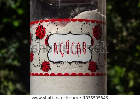 word sugar in portuguese written with sugar stock photo © nito