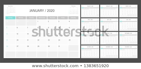 Vector calendar 2020 year. Week starts from Sunday Stock photo © nosik