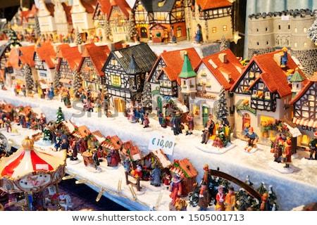 karácsony · piac · részletek · hagyományos · város · háttér - stock fotó © neirfy
