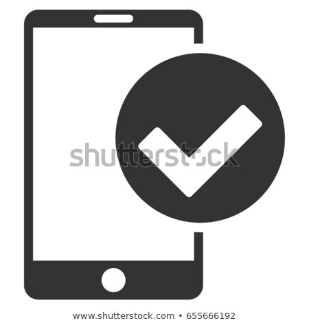 Smartphone Display And Approved Mark Vector Icon Stock photo © pikepicture
