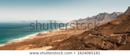Légifelvétel tengerpart gyönyörű hosszú széles sziget Stock fotó © hamik