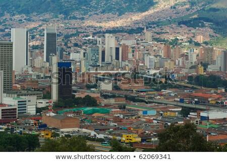 Házak város Colombia kilátás épületek városi Stock fotó © boggy