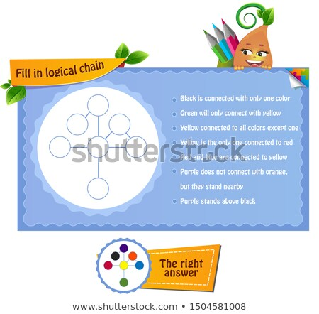 Coloring book logical chain  colors  Stock photo © Olena