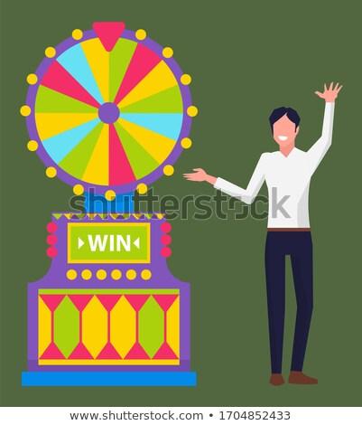roue · vecteur · chanceux · roulette · loterie - photo stock © robuart