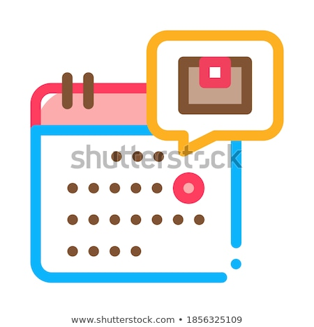 Stock photo: Date Of Sending Or Arrival Of Parcel Postal Transportation Company Icon Vector Illustration