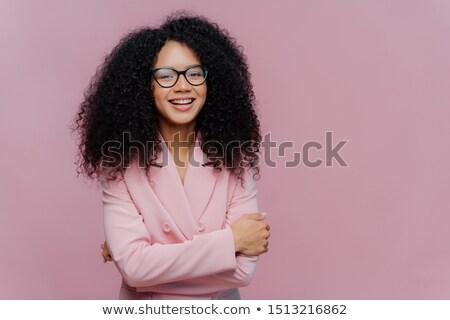 Portret szczęśliwy kobieta interesu formalny kurtka Zdjęcia stock © vkstudio