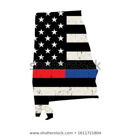 Alabama policji strażak wsparcia banderą amerykańską flagę Zdjęcia stock © enterlinedesign