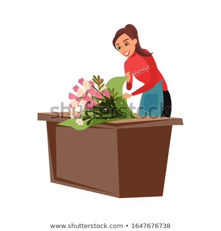 Florist woman Stock photo © Lopolo