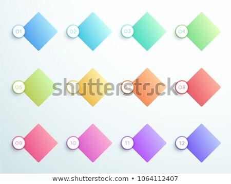 Bullet punten aantal diamant vorm een Stockfoto © SArts