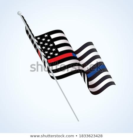 警察 消防士 フラグ 実例 サポート ストックフォト © enterlinedesign