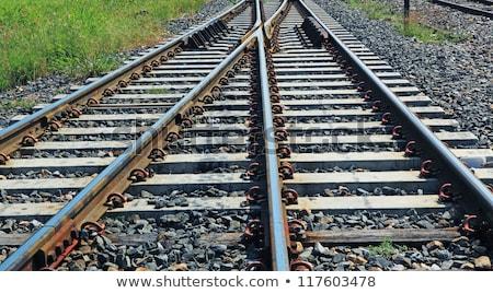 line of railway in rural of Thailand Stock photo © koratmember