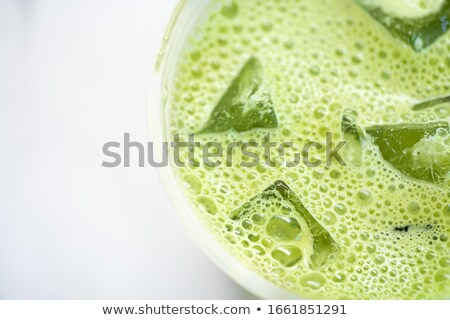 Matcha powder, latte with milk and cold drink. Stock photo © furmanphoto