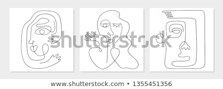 thought of one person icon vector outline illustration Stock photo © pikepicture