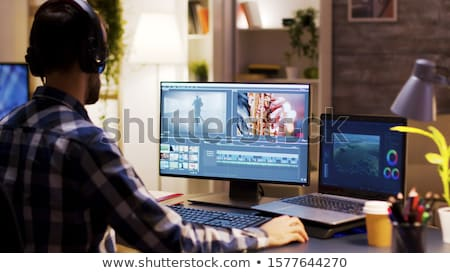 Video Edit Software On Computer Stock photo © AndreyPopov
