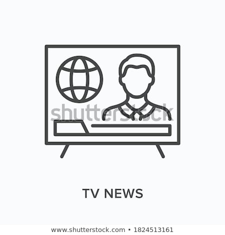 Journalist Man Icon Vector Outline Illustration Stock photo © pikepicture