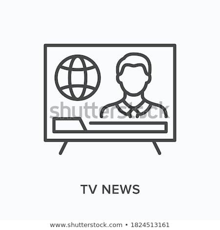 журналист человека икона вектора иллюстрация Сток-фото © pikepicture