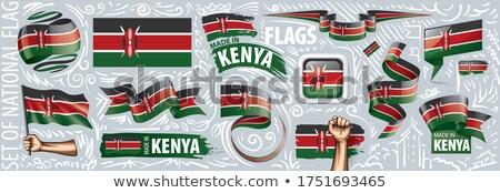Vector ingesteld vlag Kenia creatieve Stockfoto © butenkow