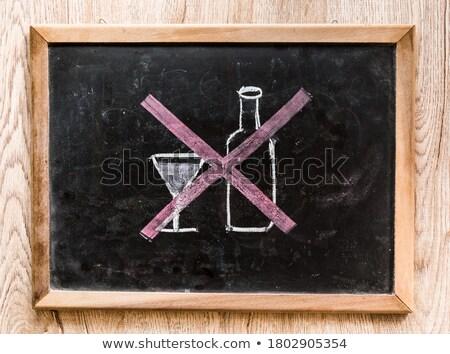 álcool não permitido vermelho proibido assinar Foto stock © evgeny89